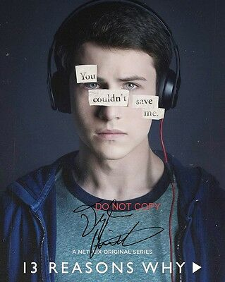 """13 Reasons Why Dylan Minnette as Clay Jensen 8x10"""" Reprint Signed Photo #3 RP"""