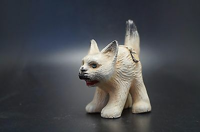 VTG Painted Metal Scared Tabby CAT Souvenir NEWPORT Rhode Island
