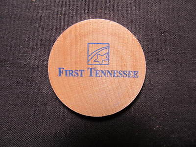 Memphis, Tennessee Wooden Nickel token - First Tennessee Bank Wooden Coin