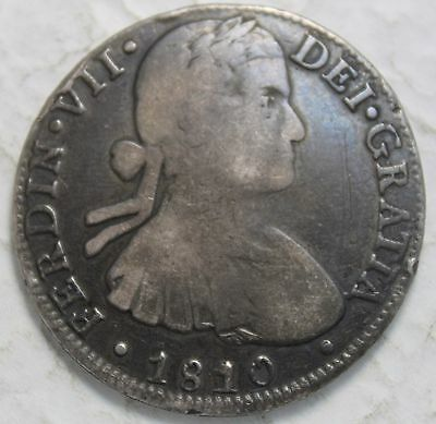 Mexico 1810 HJ Silver 8 Reales, Double Punched 8 & R Plus J Over H Variety