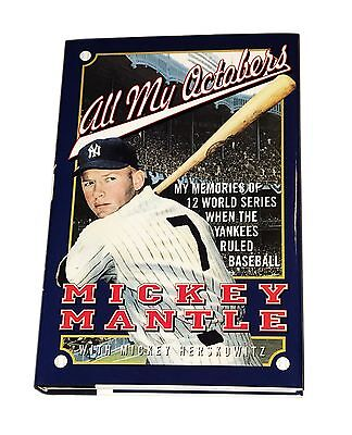 Mickey Mantle Hand Signed Autographed Book All My Octobers With Coa Very Rare