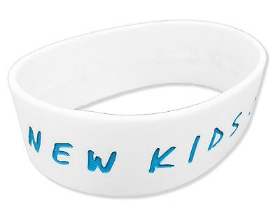 New Kids On The Block Blue Logo White Silicone Wristband New Nwt