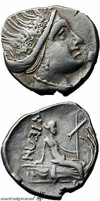 340-330 Bc Ancient Greek Silver Euboia Tetrobol Coin Histiaia