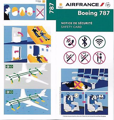 Air France Boeing 787 Dreamliner Consignes Securite / Safety Instructions