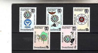 a120 - SWAZILAND - SG511-515 MNH 1986 50th ANNIV ROUND TABLE ORGANISATION