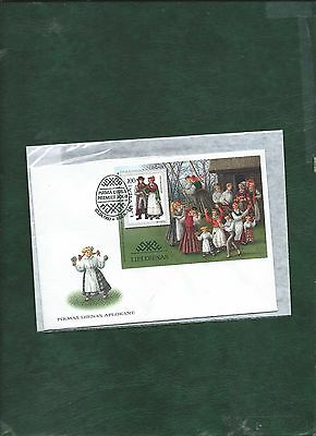 Lithuania 1992 Latvia 1997 Slovenia 2006 Traditional Costumes stamps & MS on FDC