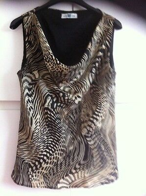 New Look Ladies Size 14 Blouse With Cowel Neck Line