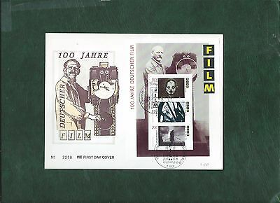 Germany 1995 Metropolis stamp and minisheet on 2 illustrated First Day Covers FD