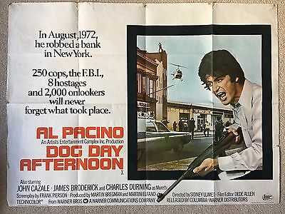 Dog Day Afternoon Quad Original Poster From 1975 - Al Pacino