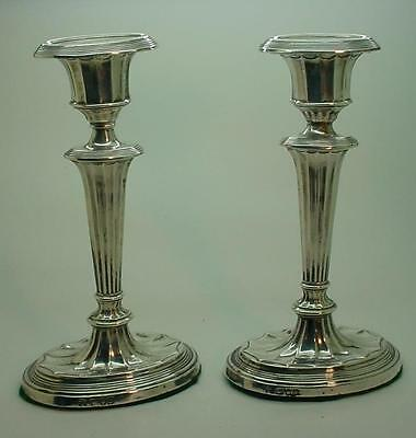 1899 Victorian Adams Style English Silver Candlesticks by Charles Stuart Harris