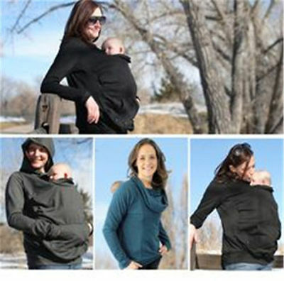 3 Colors Baby Carrier Jacket Kangaroo Maternity Outerwear Coat Pregnant Women