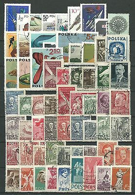 Poland, 63 Various, Used