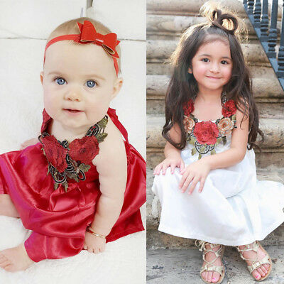 Boutiqe Toddler Kids Baby Girls 3D Flower Pageant Party Summer Dress Dresses