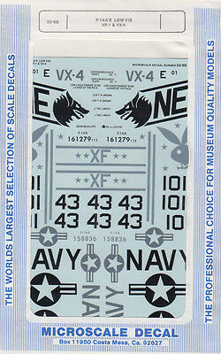 1:32 - F-14 A'S LOW VIS VF-1 / VX-4 / Microscale Decal Nr. 68