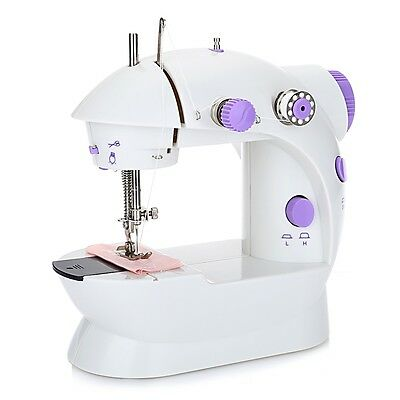 New Portable LED Electric/Battery Powered Handheld Mini Stitch Sewing Machine UK