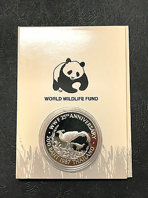 Thailand 200 Baht (1987) BE2530 WWF 25th Anniversary Silver Proof Coins