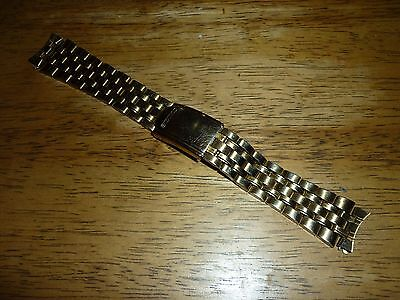 Vintage Seiko Gold PlatedStainless Steel Watch Strap-Band - Bracelet 19mm Lugs