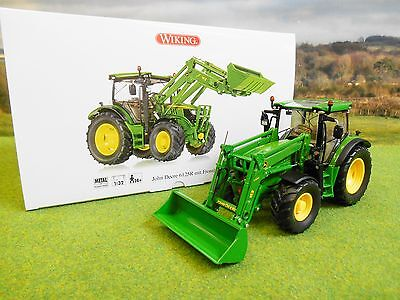 Wiking John Deere 6125R Tractor & Front Loader 1/32 7344 *boxed & New*