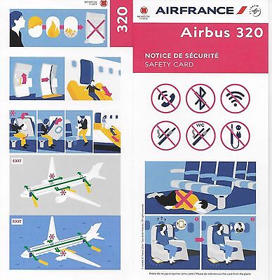 Air France Airbus A320 New Consignes Securite / Safety Instructions