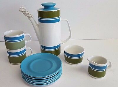 J&G Meakin Studio Coffee Set 1970's *Excellent Condition*