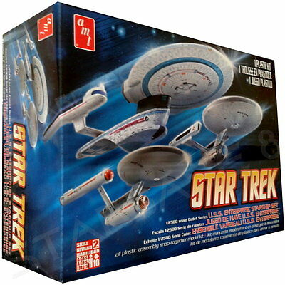 LEGANDARY ENTERPRISE 3er SET - STAR TREK AMT Bausatz 1701 / 1701-A / 1701-B KIT