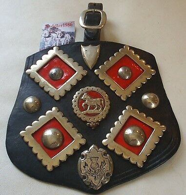 *a Beautiful Display Of Scottish White Metal Harness Decorations~ Horse Brass*