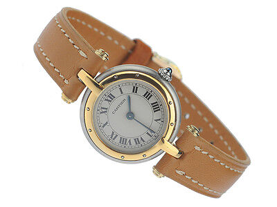 Cartier Panthere Vendome Montre Uhr Damenuhr Steel/18K Gold Watch Orologio Reloj