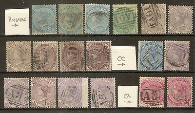 Jamaica 1860-97 Used Selection (18v)