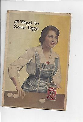 55 Ways to Save Eggs- Advertising Recipe Handout from Royal Baking Powder-1917