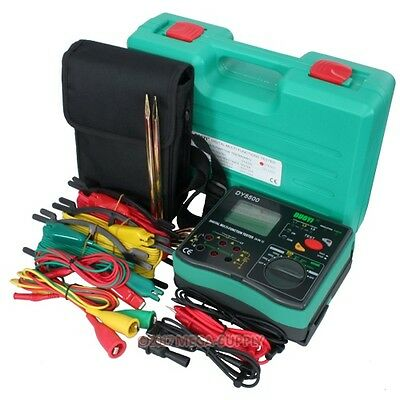 Dy5500 Dc1000V Digital Lcd Multi Earth Ground Resistance Tester Meter 0.01~2000Ω