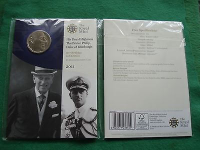 2011 Prince Philip £5 pound coin fully mint sealed  FREEPOST
