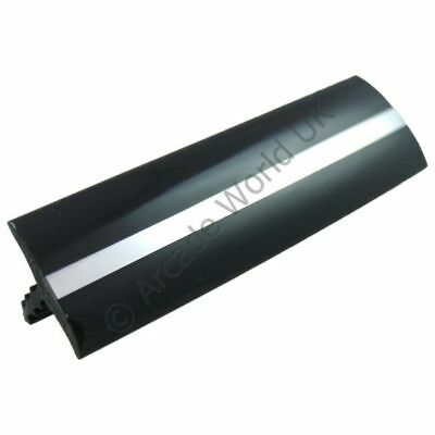 "Glossy Black With Chrome Stripe T-Molding 20ft Roll Of 3 Quarter Inch (3/4"")"
