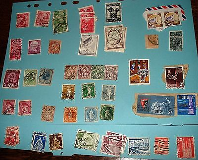 Nearly 90 stamps from Europe and Channel Islands