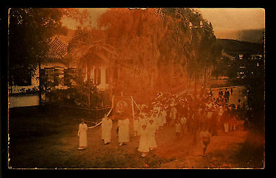 J49 Saint Barbara Procession Casa Grande RP Early 1900's British Honduras?