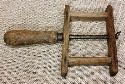old OAK Wood string winder kite early 1900's carpenter tool garden hand made