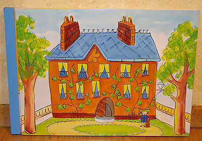 """Madeline 8"""" Doll Fold up Pop-up Dollhouse Excellent Condition"""