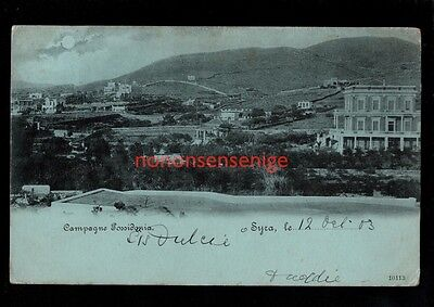 GREECE SYRA CAMPAGNE POSSIDONIA Undivided POSTCARD 1903 - 48