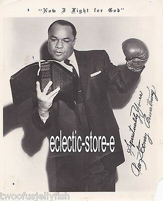 """Autographed Photo Boxing Henry Armstrong Champion Of The World """"homicide Hank"""""""