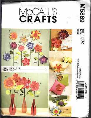 Mccall's Crafts Sewing Pattern #m5869 Dimensional Flowers