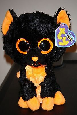 "Ty Beanie Boos ~ MOONLIGHT the 6"" Cat (Purple Tag) ~ MINT with MINT TAGS"