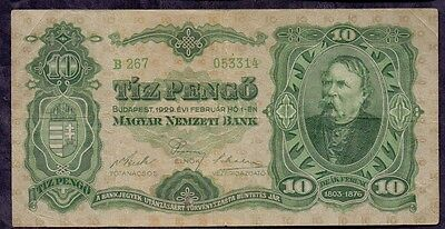 10 Pengo From Hungary 1929