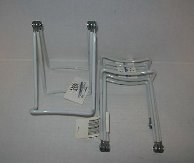 "Lot 3 Coated Wire Book,Plate, Etc. Adjustable Display Stands- 3"" Small -Tripar"
