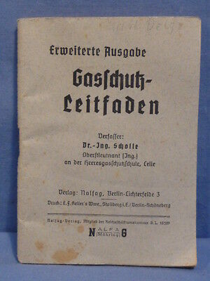 Original WWII German Extended Gas Protection Guide, Anti-Gas Equipment !!!!!!!!