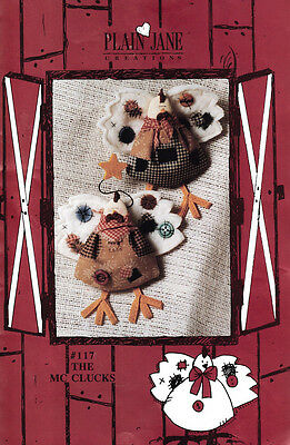 Plain Jane Creations #117 The Mcclucks Chicken Craft Sewing Pattern
