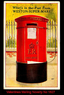 J86 Whats In The Post from Weston Super Mare Mailing Novelty Complete 12 Views