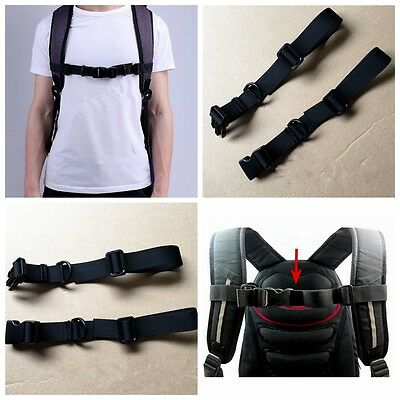 Chest Harness Adjustable Bag Backpack Webbing Sternum Buckle Clip Strap Nylon