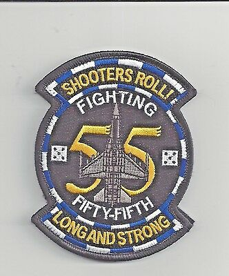 "PATCH USAF 55TH FIGHTER SQ FS SHOOTERS ROLL F-16   4""                       j"
