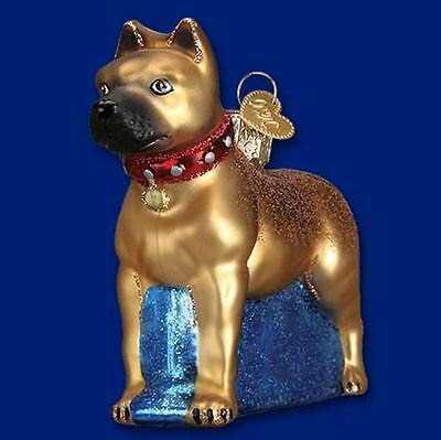 Old World Christmas Staffordshire Terrier Christmas Ornament 12438 FREE BOX