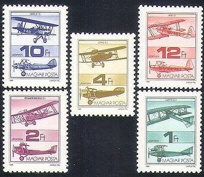 Hungary 1988 Planes/Aircraft/Aviation/Transport/Flight 5v set (n34686)