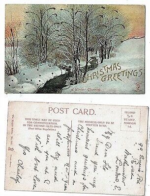 Post Cards Greetings Christmas Greetings A Winter Gloaming